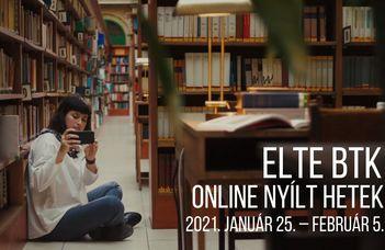 ELTE BTK Nyílt Hét: programunk