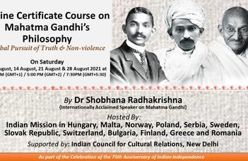 Online tanfolyam Mahátmá Gándhí filozófiájáról Sóbhaná Rádhákrisnan szervezésében